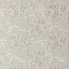 Natural/Beige Embroidery Drapery and Upholstery Fabric by Duralee