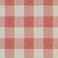 Coral Check Drapery and Upholstery Fabric by Trend