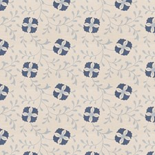 Navy Embroidery Drapery and Upholstery Fabric by Trend