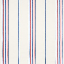 Blue/Red Drapery and Upholstery Fabric by Schumacher