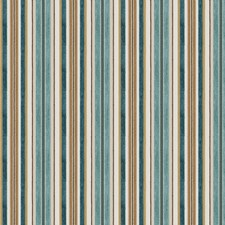 Peacock Stripes Drapery and Upholstery Fabric by Fabricut