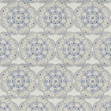 Bluedream Embroidery Drapery and Upholstery Fabric by Stroheim