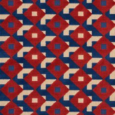 Blue/amp/Red Drapery and Upholstery Fabric by Schumacher