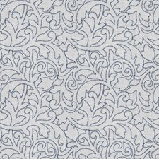 Indigo Embroidery Drapery and Upholstery Fabric by Fabricut