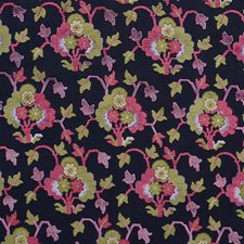 Midnight/Magenta Drapery and Upholstery Fabric by Schumacher