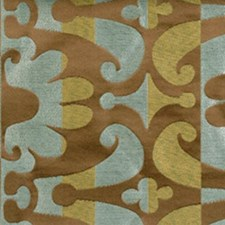 Celery/cocoa Drapery and Upholstery Fabric by Highland Court