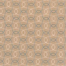 Natural/aqua Drapery and Upholstery Fabric by Highland Court