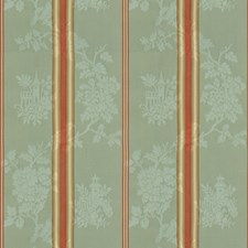 Aqua Stripes Drapery and Upholstery Fabric by Brunschwig & Fils