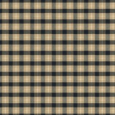 Coal/Tan Plaid Drapery and Upholstery Fabric by Brunschwig & Fils
