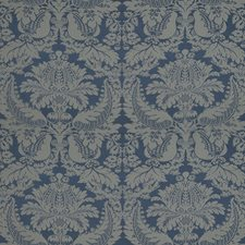 Sapphire Damask Drapery and Upholstery Fabric by Brunschwig & Fils