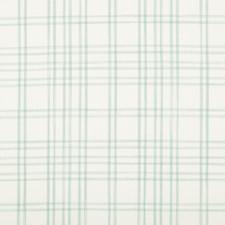 Aqua Plaid Drapery and Upholstery Fabric by Brunschwig & Fils