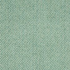 Aqua Herringbone Drapery and Upholstery Fabric by Brunschwig & Fils