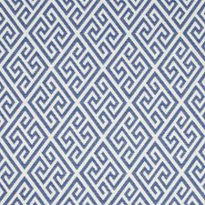 Marine Geometric Drapery and Upholstery Fabric by Brunschwig & Fils