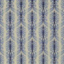 Indigo/Sky Damask Drapery and Upholstery Fabric by Brunschwig & Fils