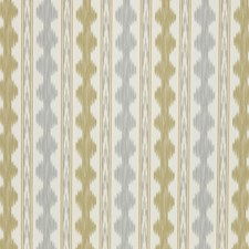 Grey/Sand Ikat Drapery and Upholstery Fabric by Brunschwig & Fils