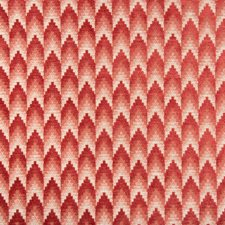 Red Geometric Drapery and Upholstery Fabric by Brunschwig & Fils