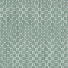 Aqua Geometric Drapery and Upholstery Fabric by Brunschwig & Fils