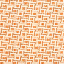 Orange Geometric Drapery and Upholstery Fabric by Brunschwig & Fils