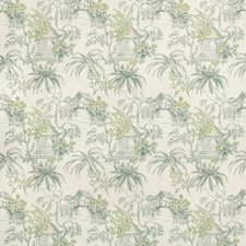 Lagoon Asian Drapery and Upholstery Fabric by Brunschwig & Fils