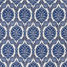 Indigo Damask Drapery and Upholstery Fabric by Brunschwig & Fils