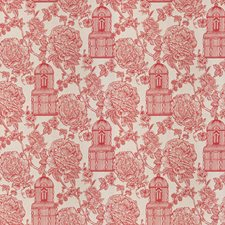 Ruby Floral Drapery and Upholstery Fabric by Stroheim