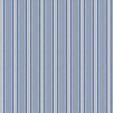 Blue Stripes Drapery and Upholstery Fabric by Stroheim