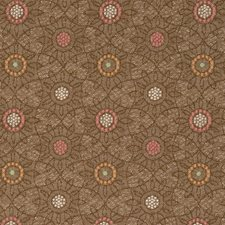 Mango Jacquard Pattern Drapery and Upholstery Fabric by S. Harris