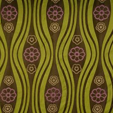 Dark Citron Floral Drapery and Upholstery Fabric by S. Harris