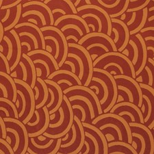 Auburn Flamestitch Drapery and Upholstery Fabric by S. Harris