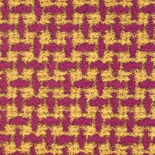 Magenta Jacquard Pattern Drapery and Upholstery Fabric by S. Harris