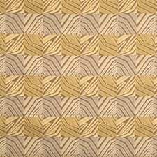 Warm Taupe Geometric Drapery and Upholstery Fabric by S. Harris