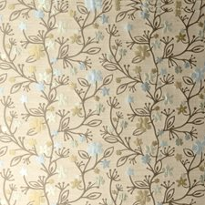 Pale Aqua Floral Drapery and Upholstery Fabric by S. Harris