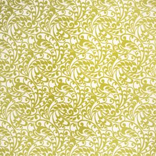 Lime Jacquard Pattern Drapery and Upholstery Fabric by S. Harris