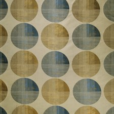 Sapphire Gold Geometric Drapery and Upholstery Fabric by S. Harris