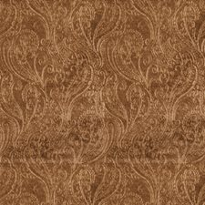 Cognac Paisley Drapery and Upholstery Fabric by S. Harris