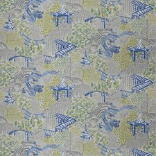 Cobalt Animal Drapery and Upholstery Fabric by Trend
