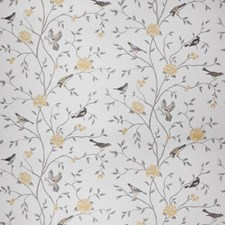 Grey Citrine Floral Drapery and Upholstery Fabric by Trend