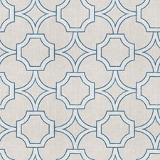 Navy Lattice Drapery and Upholstery Fabric by Trend