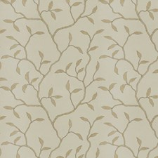 Natural Embroidery Drapery and Upholstery Fabric by Trend