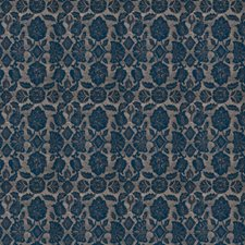 Navy Floral Drapery and Upholstery Fabric by Fabricut