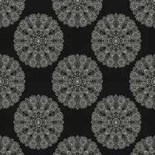 Night Medallion Drapery and Upholstery Fabric by Trend