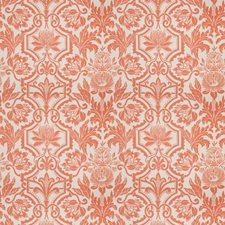 Persimmon Floral Drapery and Upholstery Fabric by Vervain