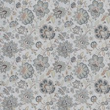 Slate Floral Drapery and Upholstery Fabric by Trend