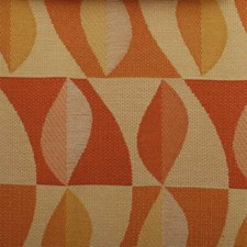 Apricot Abstract Drapery and Upholstery Fabric by Duralee