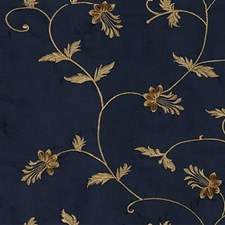 Blue/Yellow Botanical Drapery and Upholstery Fabric by Kravet