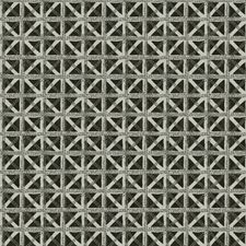 Charcoal Lattice Drapery and Upholstery Fabric by Fabricut