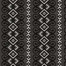 Black/White Embroidery Drapery and Upholstery Fabric by Fabricut