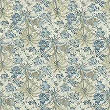 Porcelain Floral Drapery and Upholstery Fabric by Fabricut