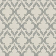 Gray Lattice Drapery and Upholstery Fabric by Trend