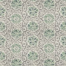 Tourmaline Print Pattern Drapery and Upholstery Fabric by Vervain